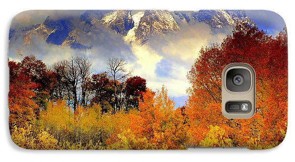 Galaxy Case featuring the photograph October In Grand Tetons by Irina Hays