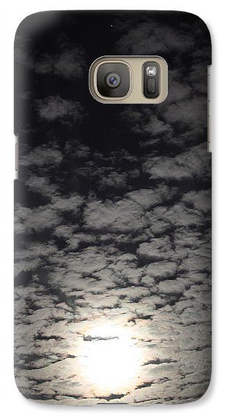 Galaxy Case featuring the pyrography October Moon by Joel Loftus