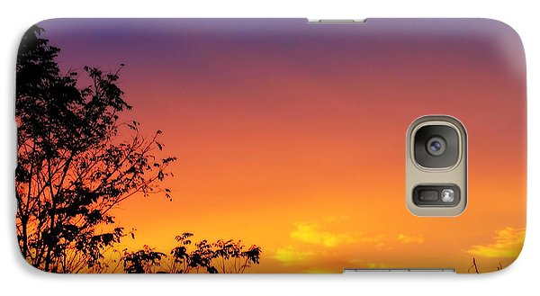 Galaxy Case featuring the photograph October Sky by Candice Trimble