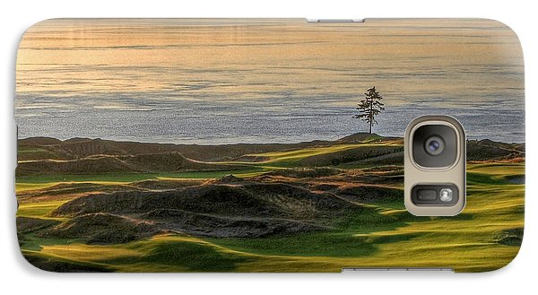 Galaxy Case featuring the photograph October Solitude - Chambers Bay Golf Course by Chris Anderson