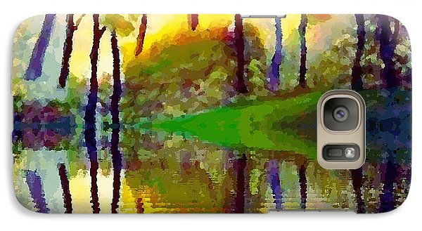 Galaxy Case featuring the painting October Surprise by Holly Martinson