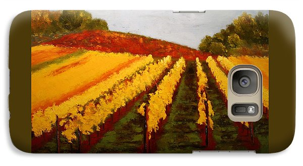 Galaxy Case featuring the painting October Vineyard by Nancy Jolley