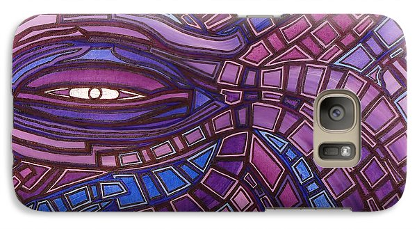 Galaxy Case featuring the painting Octopus Eye by Barbara St Jean