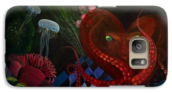 Galaxy Case featuring the painting Octopus Heart by Adria Trail