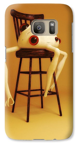 Galaxy Case featuring the digital art Oddball by Matt Lindley
