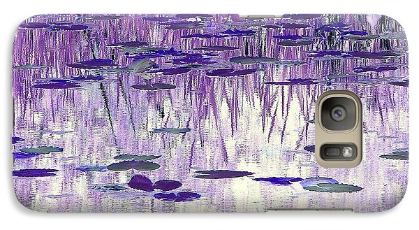 Galaxy Case featuring the photograph Ode To Monet In Purple by Chris Anderson