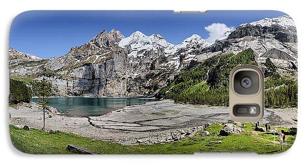 Galaxy Case featuring the photograph Oeschinen Lake by Carsten Reisinger