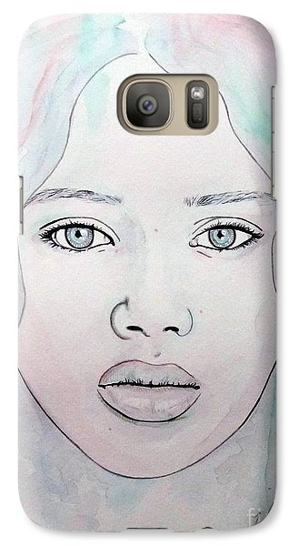 Galaxy Case featuring the mixed media Of Colour And Beauty - Blue by Malinda Prudhomme