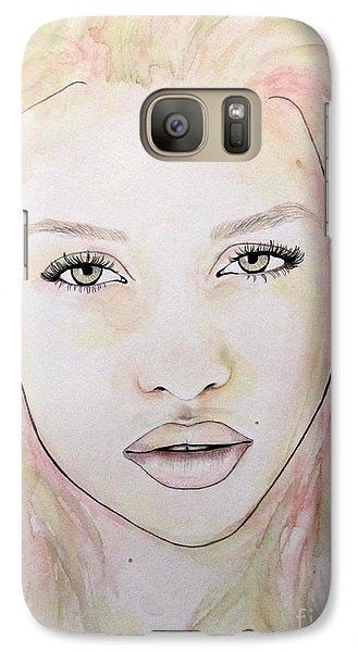 Galaxy Case featuring the mixed media Of Colour And Beauty - Pink by Malinda Prudhomme