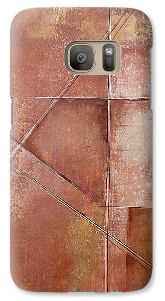 Galaxy Case featuring the painting Off On A Tangent by Buck Buchheister