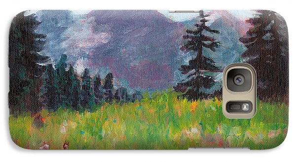 Galaxy Case featuring the painting Off The Trail 2 by C Sitton