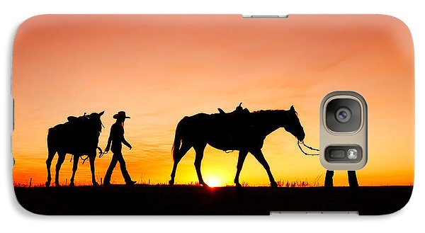 Horse Galaxy S7 Case - Off To The Barn by Todd Klassy