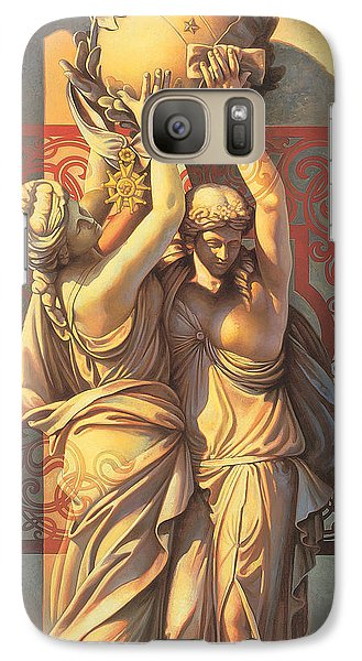 Galaxy Case featuring the painting Offering by Mia Tavonatti