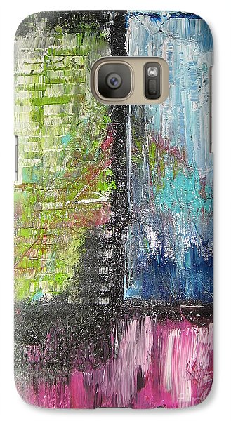 Galaxy Case featuring the painting Office Window by Lucy Matta