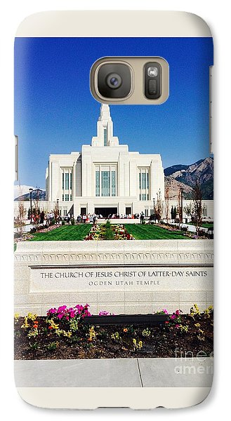 Galaxy Case featuring the photograph Ogden Temple 1 by Richard W Linford