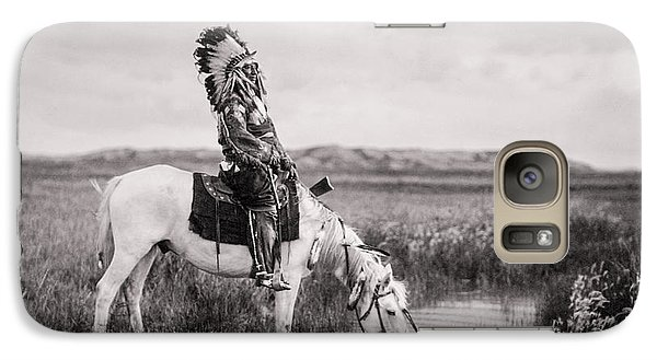 Horse Galaxy S7 Case - Oglala Indian Man Circa 1905 by Aged Pixel