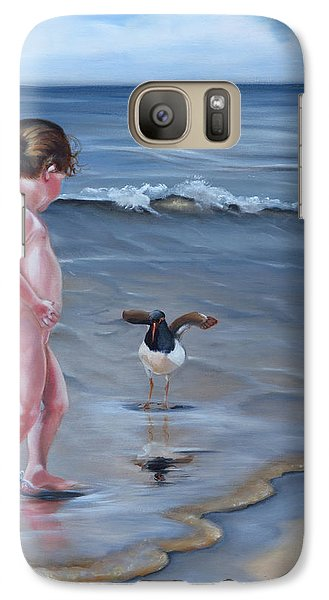 Galaxy Case featuring the painting Oh Hello There by Phyllis Beiser