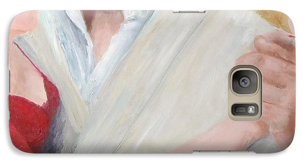 Galaxy Case featuring the painting Oh My........ by Keith Thue