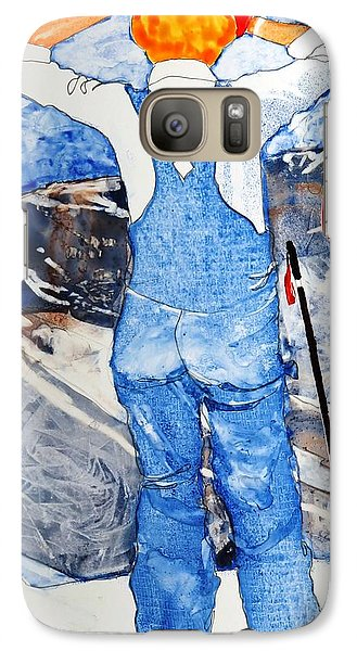 Galaxy Case featuring the painting Oh Say Can You Ski by Elizabeth Carr