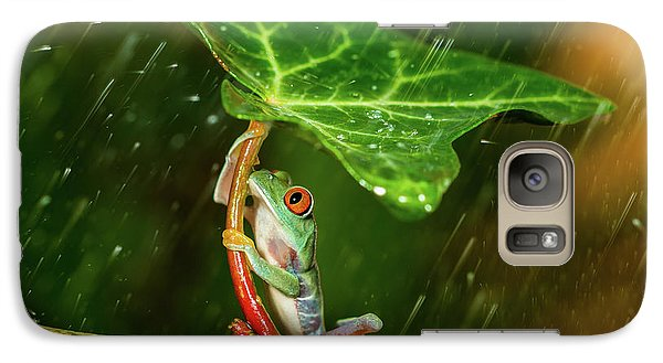 Amphibians Galaxy S7 Case - Ohh Noo :( It's Raining by Kutub Uddin