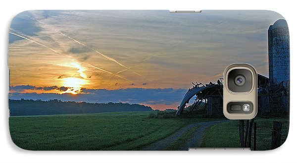 Galaxy Case featuring the photograph Ohio Farm Sunrise by Lila Fisher-Wenzel