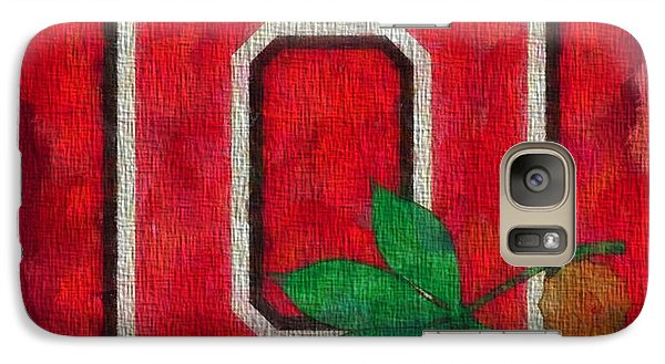 Ohio State Buckeyes On Canvas Galaxy Case by Dan Sproul