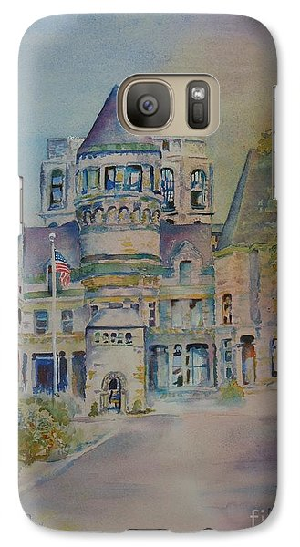 Galaxy Case featuring the painting Ohio State Reformatory by Mary Haley-Rocks