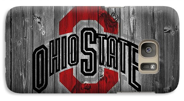 Basketball Galaxy S7 Case - Ohio State University by Dan Sproul
