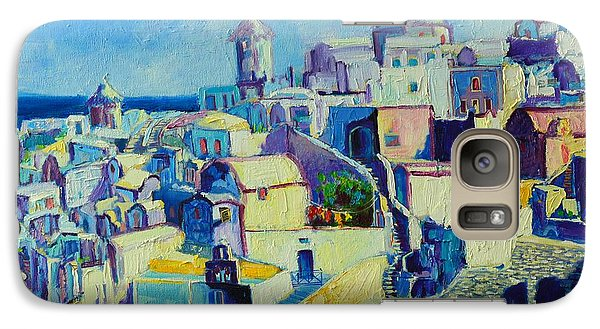 Galaxy Case featuring the painting OIA by Ana Maria Edulescu