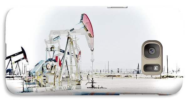 Galaxy Case featuring the photograph Oil Field by Joel Loftus