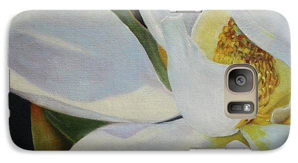 Galaxy Case featuring the painting Oil Painting - Sydney's Magnolia by Roena King