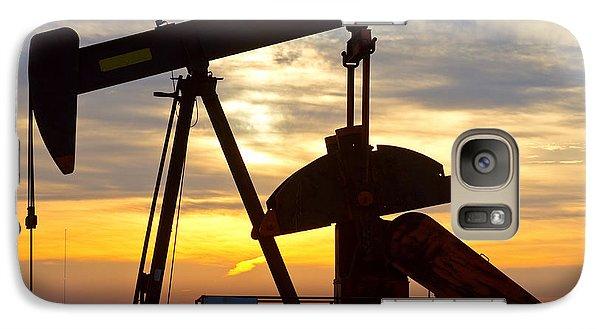 Oil Pump Sunrise Galaxy S7 Case by James BO  Insogna