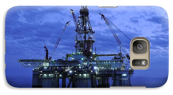 Oil Rig At Twilight Galaxy S7 Case