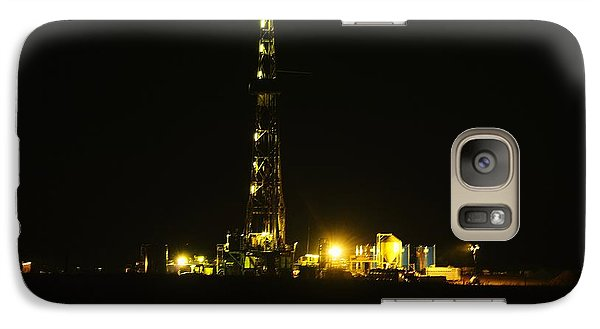 Oil Rig Galaxy S7 Case by Jeff Swan