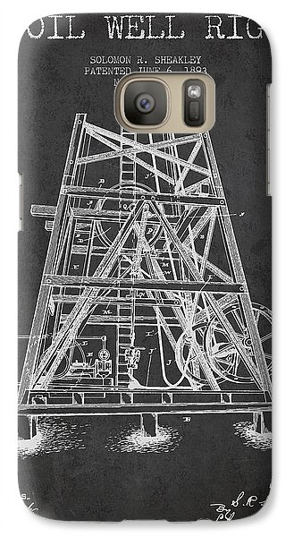 Oil Well Rig Patent From 1893 - Dark Galaxy S7 Case