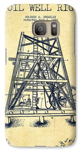 Oil Well Rig Patent From 1893 - Vintage Galaxy S7 Case