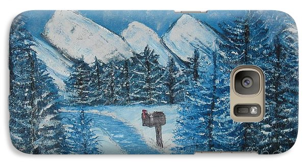 Galaxy Case featuring the painting Oils On Canvas Blue Winter by Margaret Newcomb