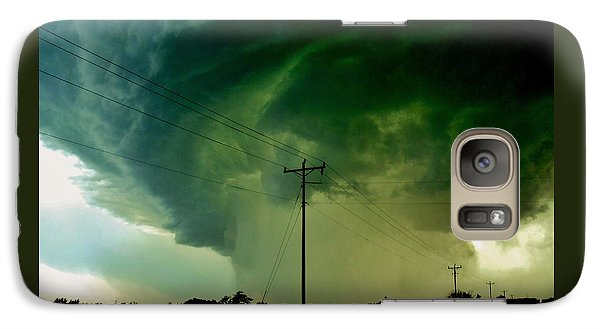Galaxy Case featuring the photograph Oklahoma Mesocyclone by Ed Sweeney