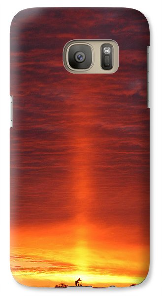 Galaxy Case featuring the photograph Oklahoma Sunrise by Christopher McKenzie