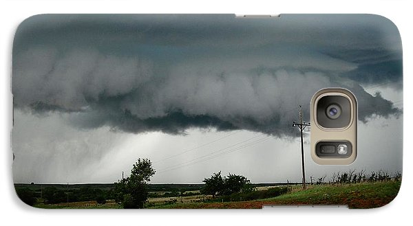 Galaxy Case featuring the photograph Oklahoma Wall Cloud by Ed Sweeney