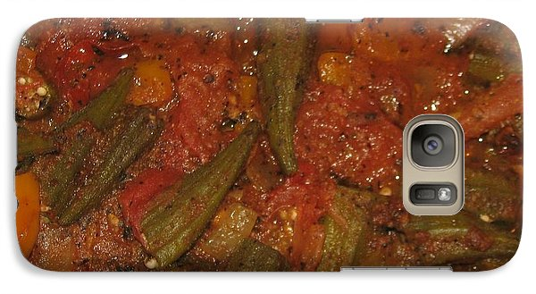 Galaxy Case featuring the photograph Okra And Tomatoes by Cleaster Cotton copyright