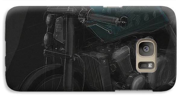 Galaxy Case featuring the digital art Ol Blue by Jeremy Lacy