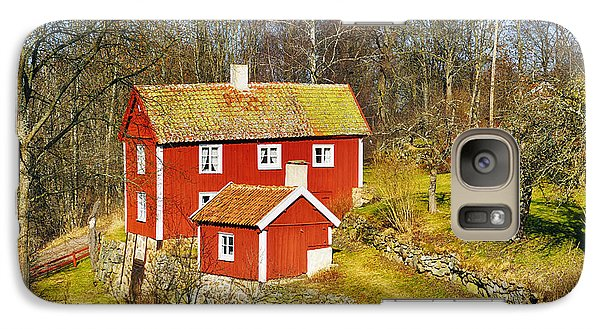 Galaxy Case featuring the photograph Old 17th Century Cottage Set In Rural Nature Landscape by Christian Lagereek