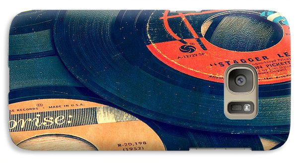 Music Galaxy S7 Case - Old 45 Records Square Format by Edward Fielding