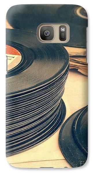 Old 45s Galaxy S7 Case by Edward Fielding
