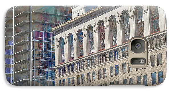 Galaxy Case featuring the photograph Old And New Building Panorama by John Fish
