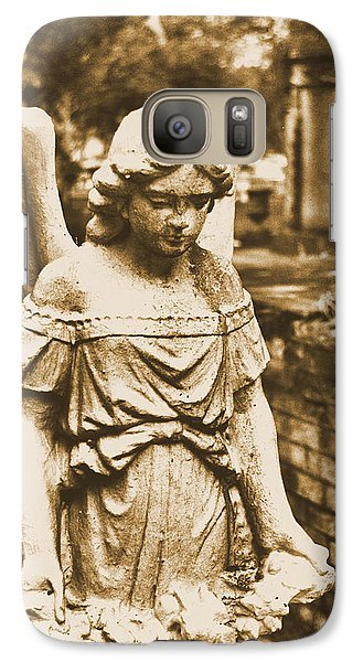 Galaxy Case featuring the photograph Blessed Angel   by Nadalyn Larsen