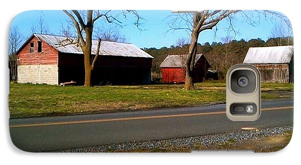 Galaxy Case featuring the photograph Old Barn by Amazing Photographs AKA Christian Wilson