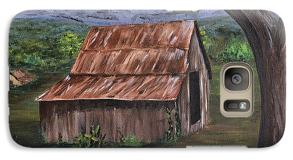Galaxy Case featuring the painting Old Barn by Debbie Baker