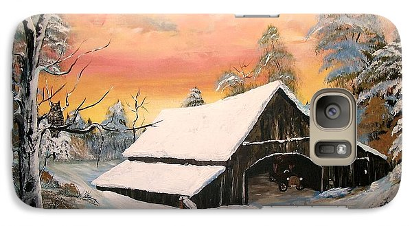 Galaxy Case featuring the painting Old Barn Guardian by Sharon Duguay